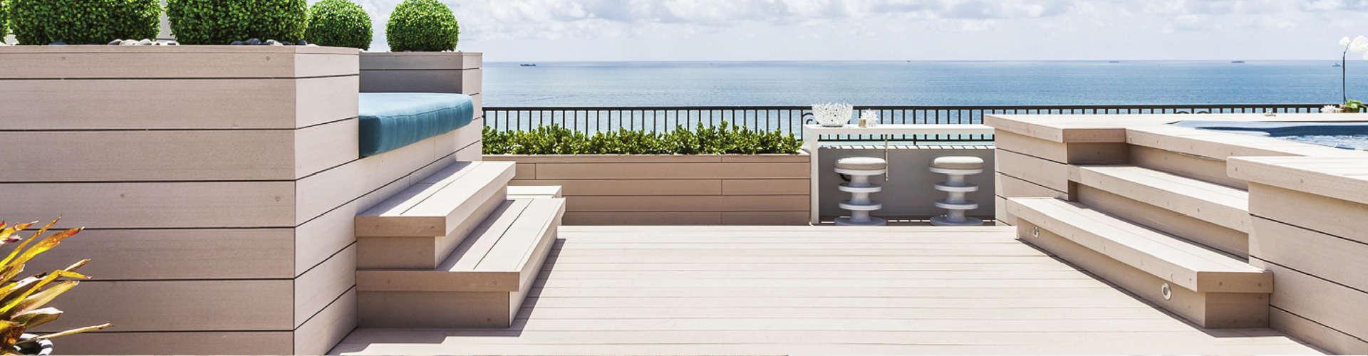 Resysta Decking / Bodenbelag und Möbel