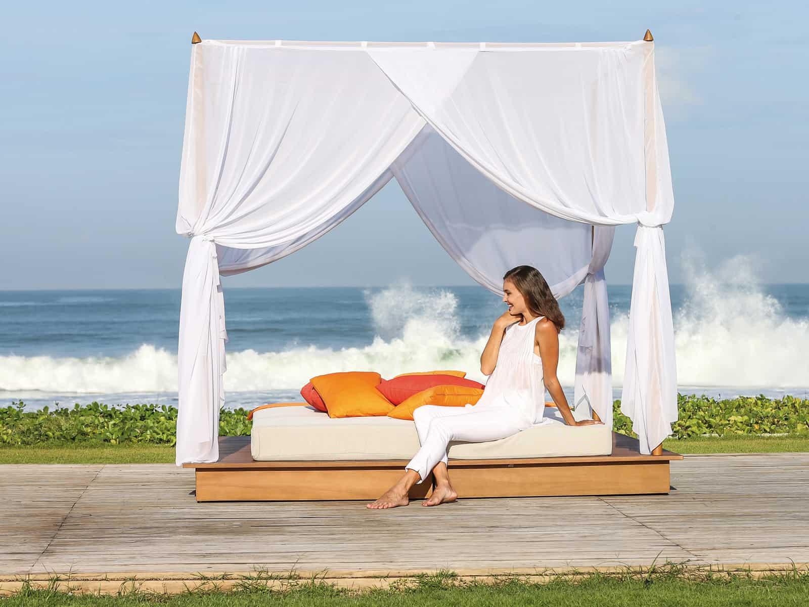 Tagesbett am Strand