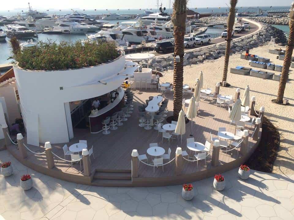 Strandbar Terrasse Aussbereich