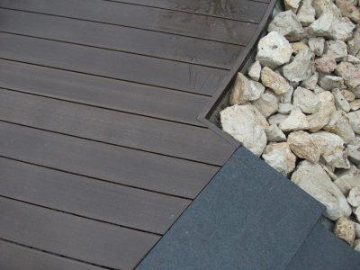 Detail, Abschluss, Terrasse Beet Treppe
