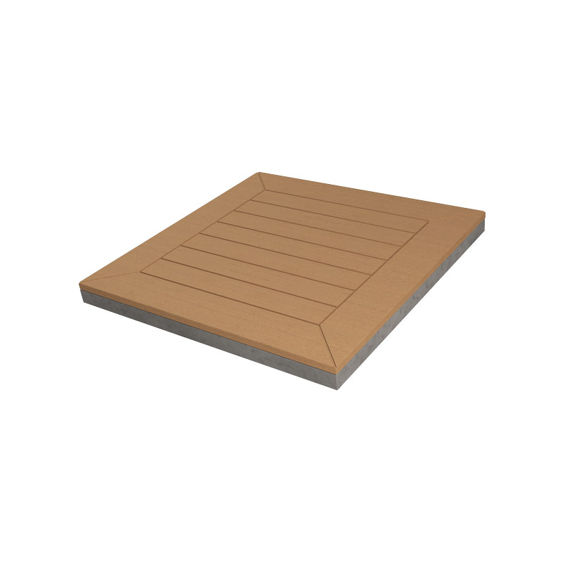 Quadratische Bodenbelagsplatte
