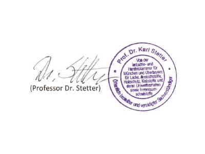 Prüfsiegel Prof. Stetter